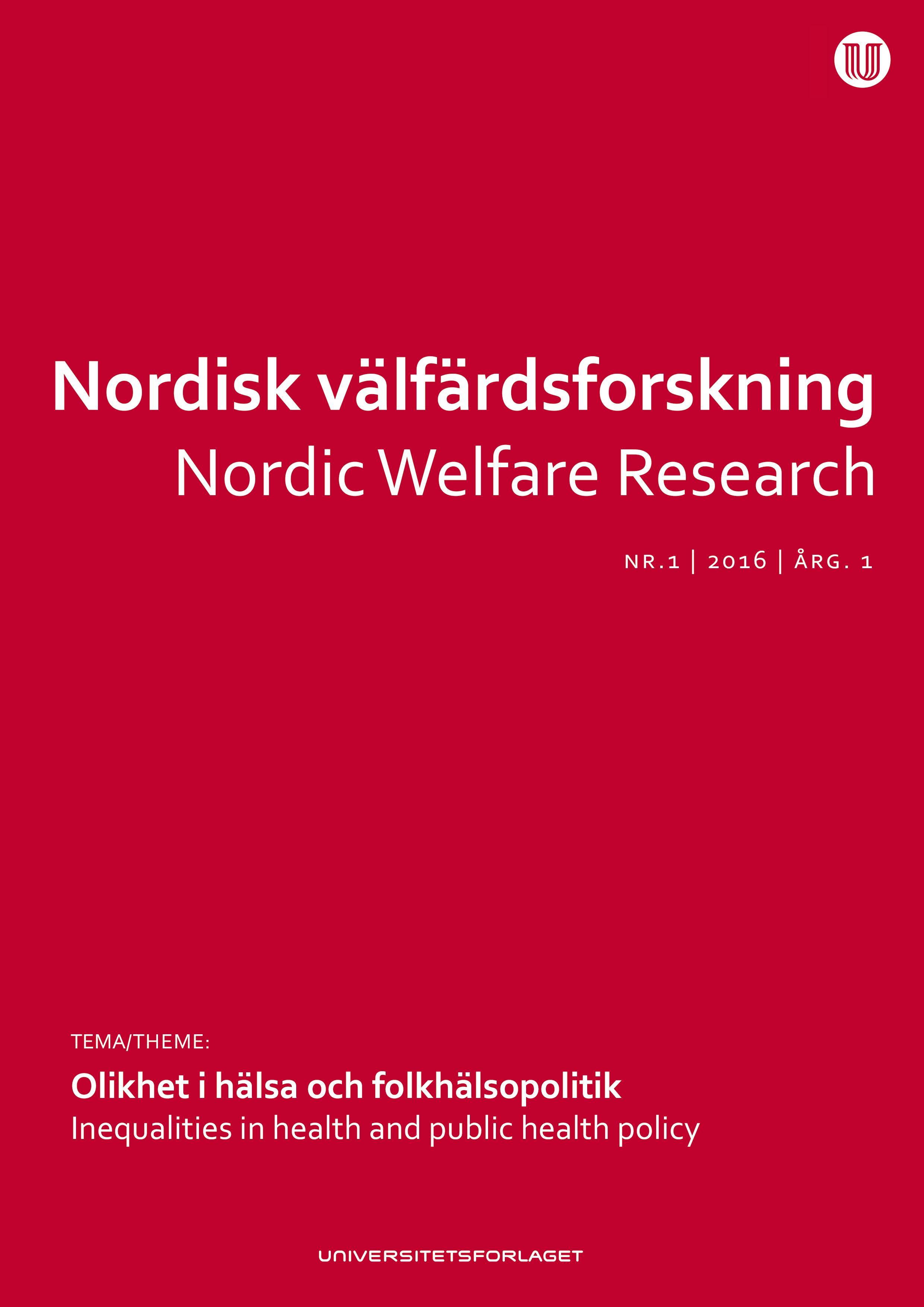 Nordisk velferdsforskning
